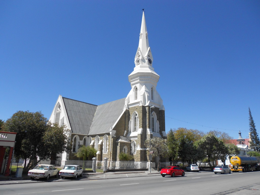 The Dutch Reformed Church in the middle of Beaufort West