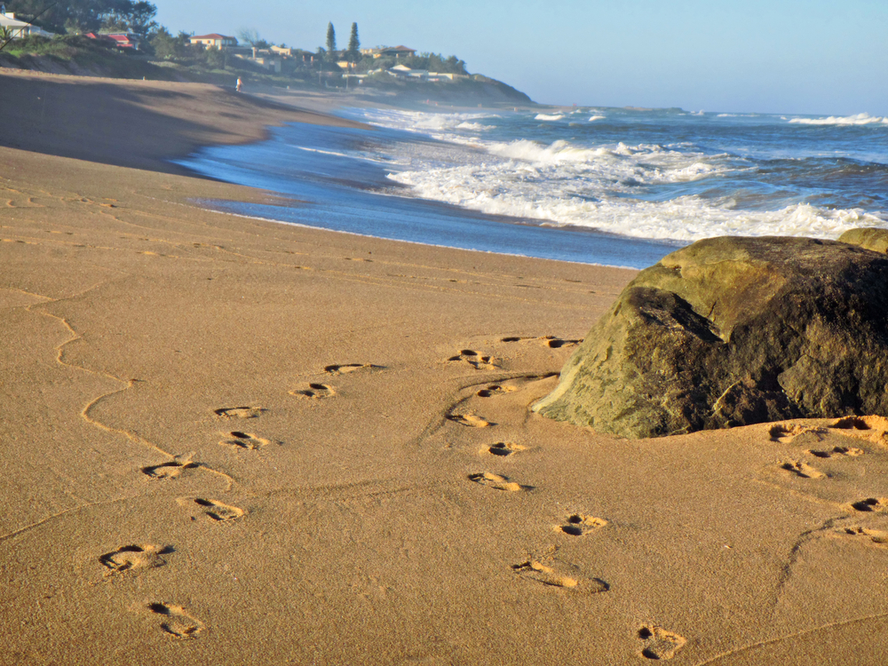 One of the more quiet beaches in Ballito