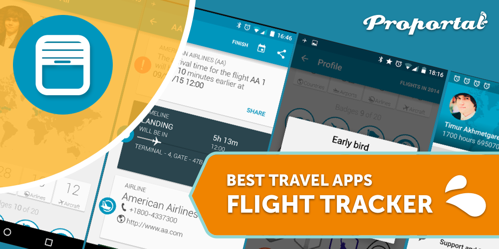1 Flight Tracker, Best Travel Apps