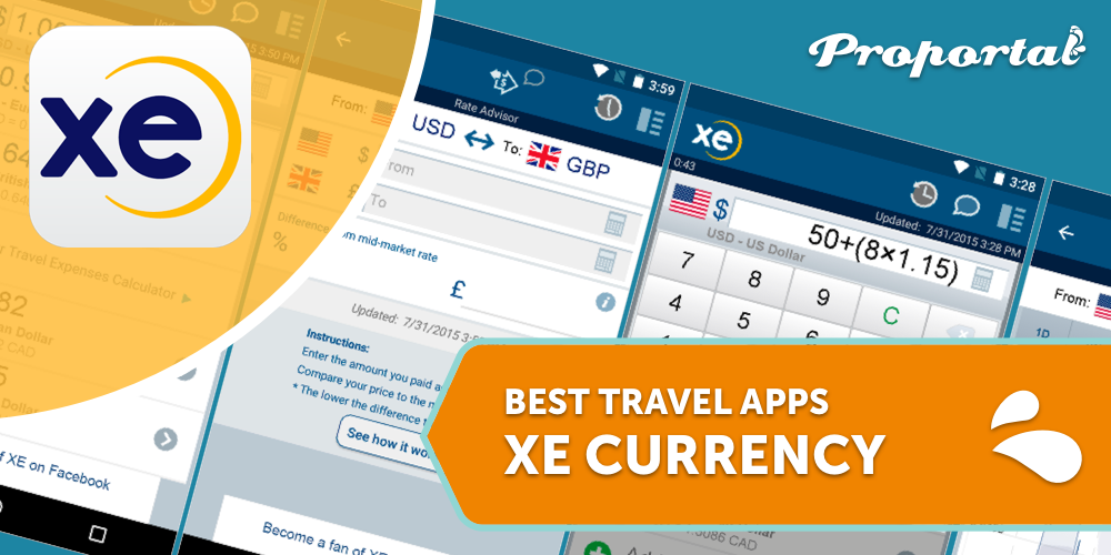 5 XE Currency, Best Travel Apps