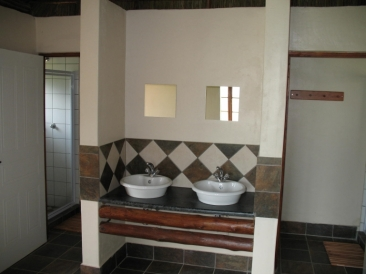 Bathroom In An Oranjerus Resort Chalet