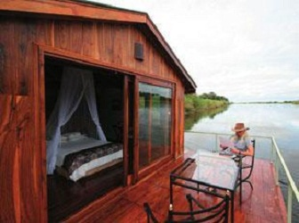 Exterior View Of Floating Chalet