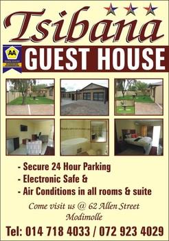 Tsibana Guest House - Sunnyside in Pretoria